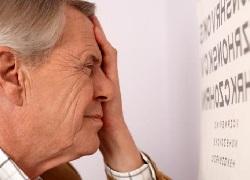 Снижение остроты зрения правого глаза и расходящееся косоглазие справа